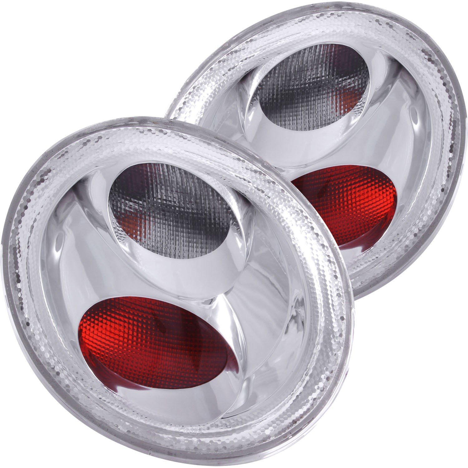98 05 Volkswagen Beetle Tail Lights Left Right Pair W Clear Lens Chevy Truck Led Chrome